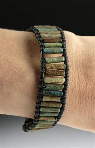 Egyptian Faience Bead Wrap Bracelet