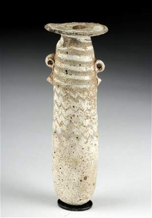 Greek Core Formed Glass Alabastron exBonhams