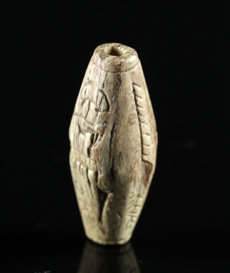 Egyptian Steatite Bead w/ Cartouche of Thutmosis III - 2
