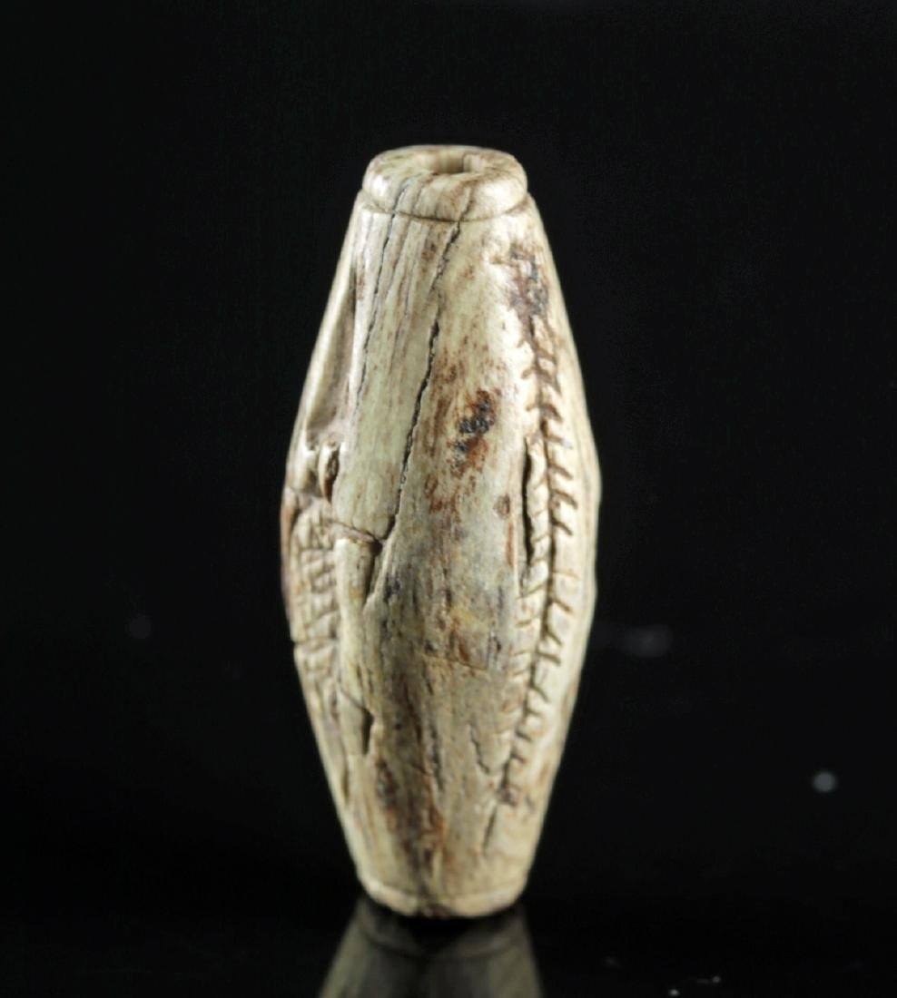 Egyptian Steatite Bead w/ Cartouche of Thutmosis III - 4