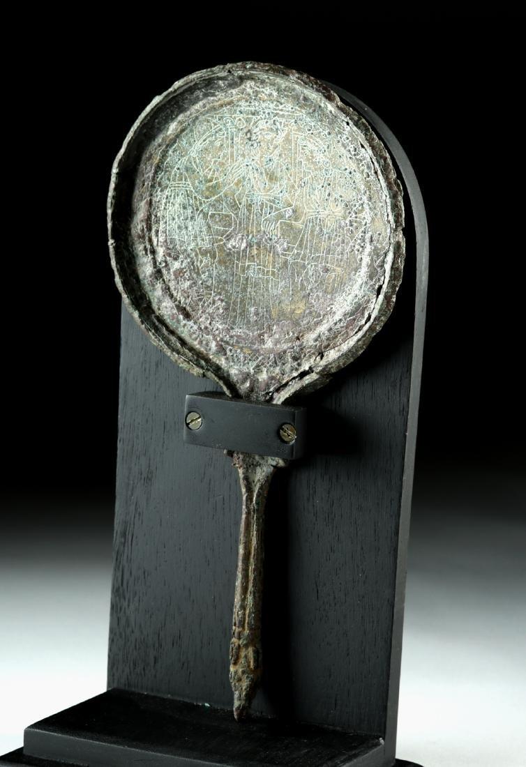 Etruscan Bronze Mirror - Judgment of Paris - 4