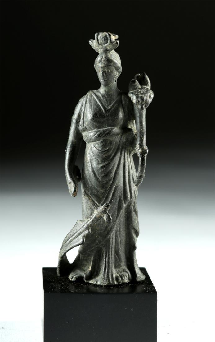 Roman Bronze Fortuna / Isis Figure
