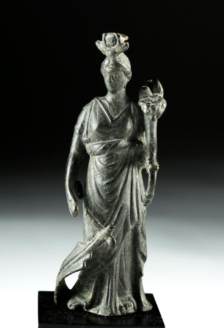 Roman Bronze Fortuna / Isis Figure - 2