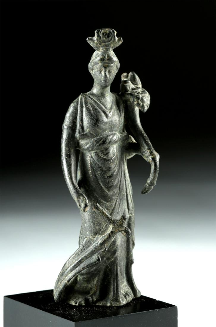 Roman Bronze Fortuna / Isis Figure - 3