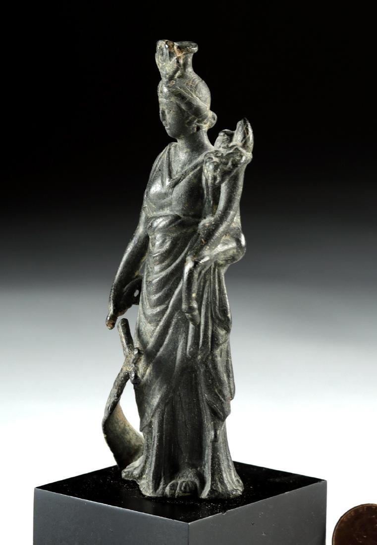 Roman Bronze Fortuna / Isis Figure - 4