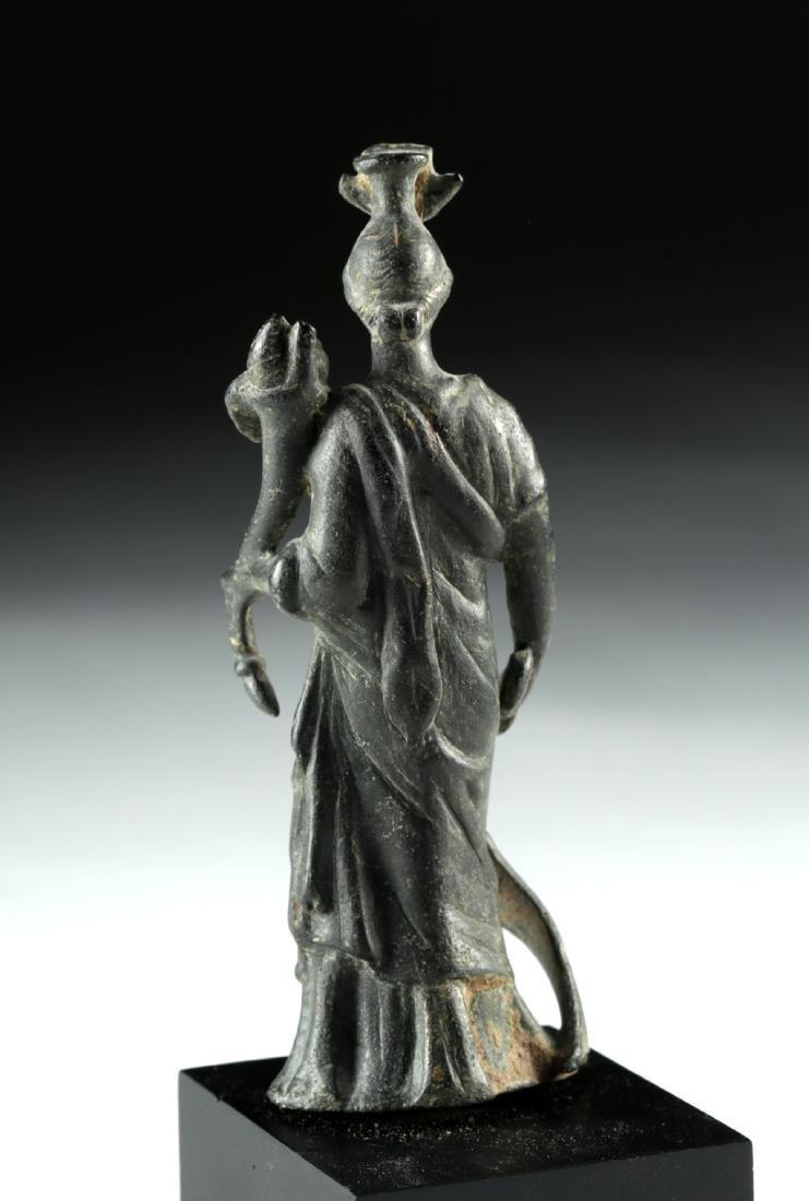 Roman Bronze Fortuna / Isis Figure - 5