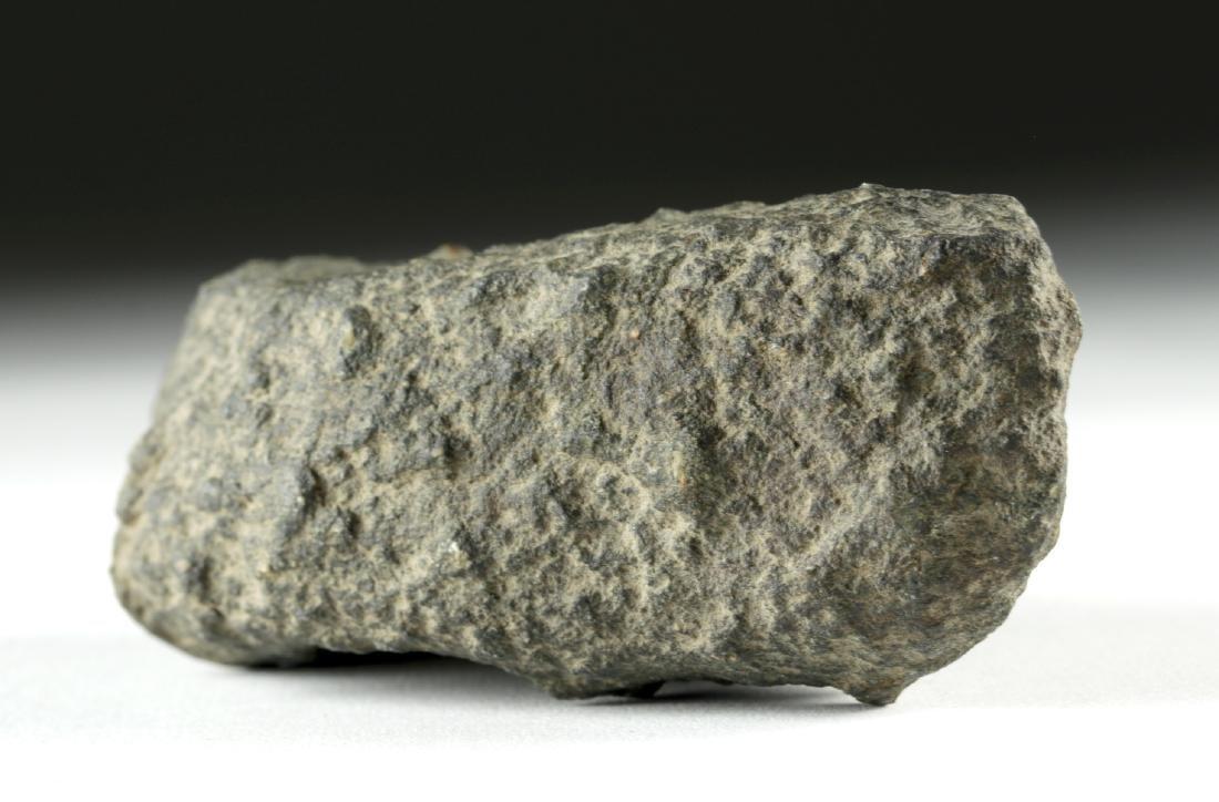 European Bronze Age Pecked Stone Boat Axe Head - 2