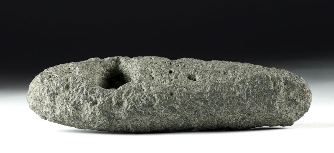 European Bronze Age Pecked Stone Boat Axe Head