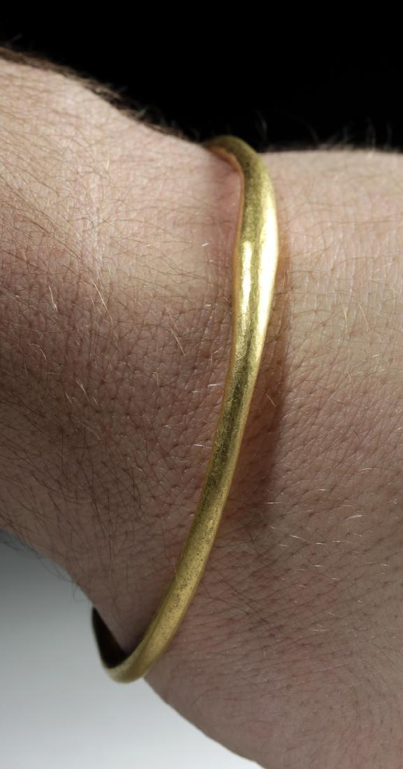 Iron Age Celtic 21K+ Gold Torq Bracelet, 45.2 g - 2