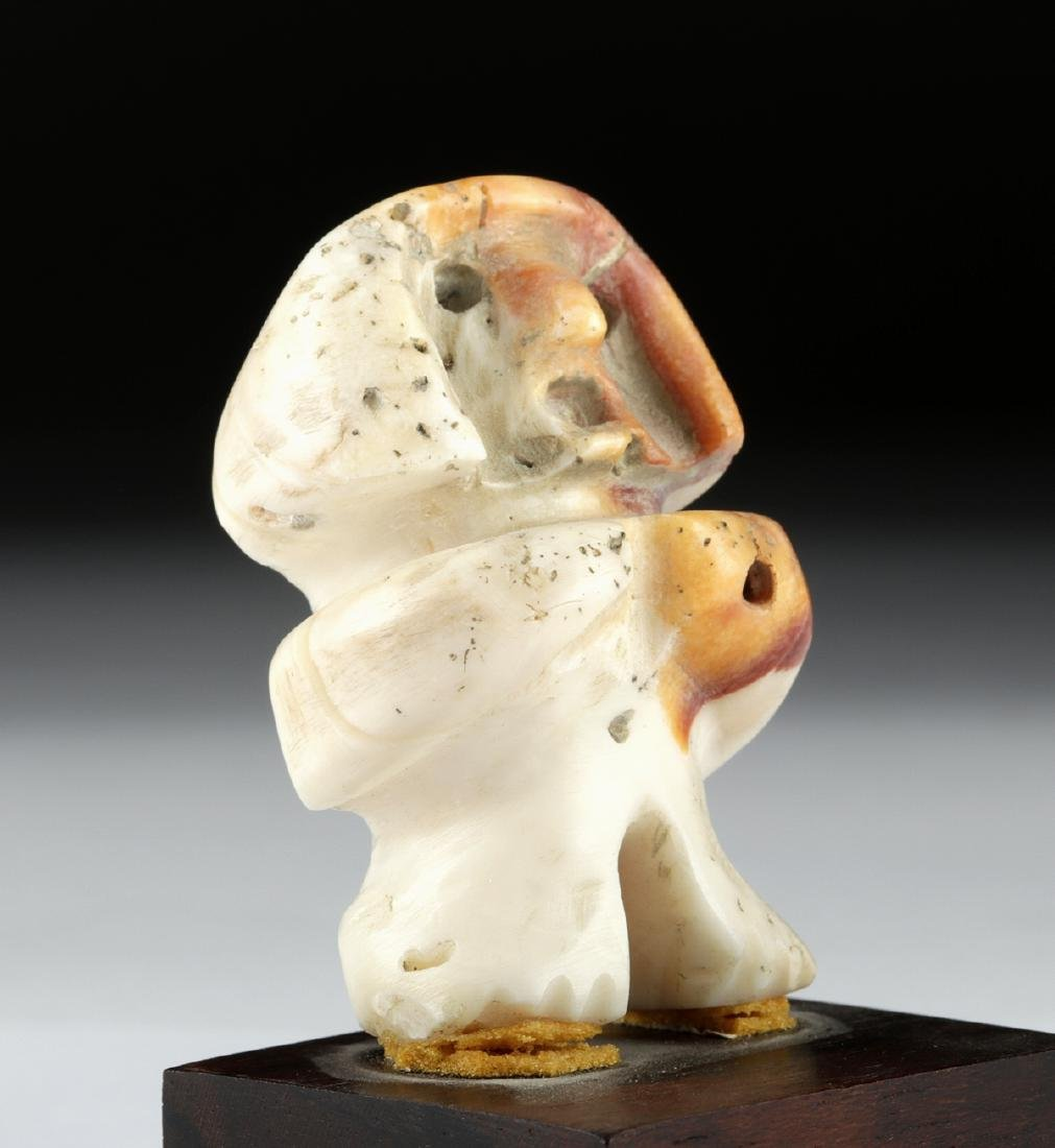 Rare Valdivian Clam Shell Figural Bead - 2