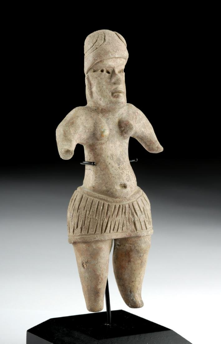 Olmec Terracotta Standing Woman in Skirt - 2