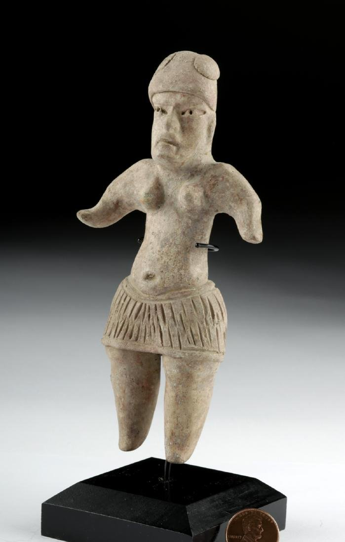 Olmec Terracotta Standing Woman in Skirt - 3