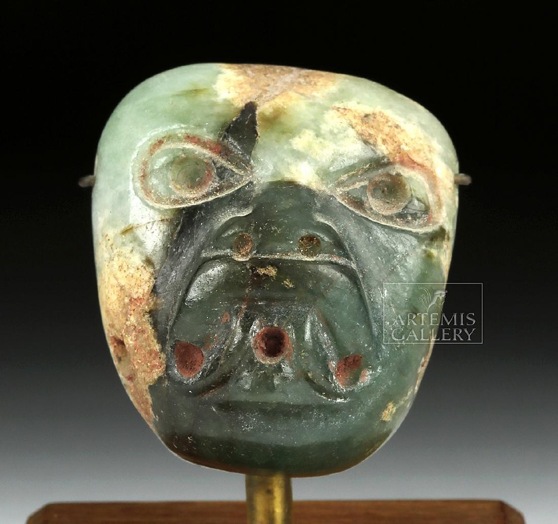 Stunning Miniature Olmec Jade Maskette