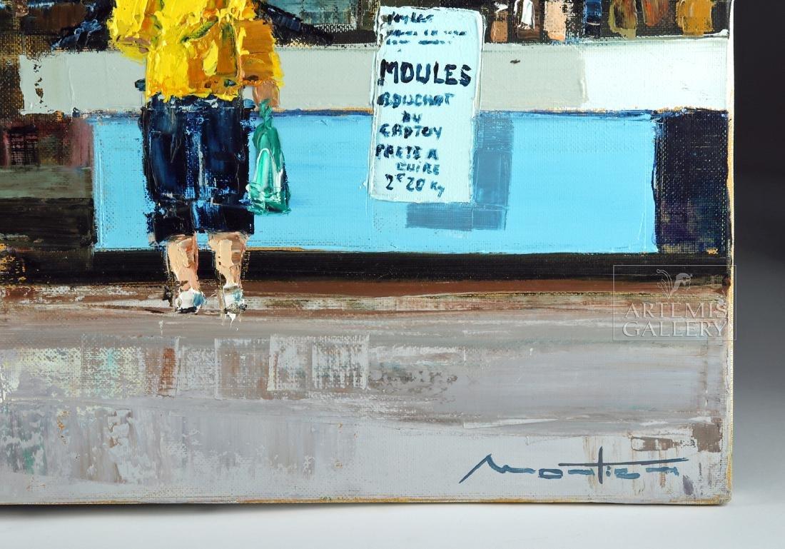 Signed Mortier Painting - La Vente Des Moules, 2010 - 2