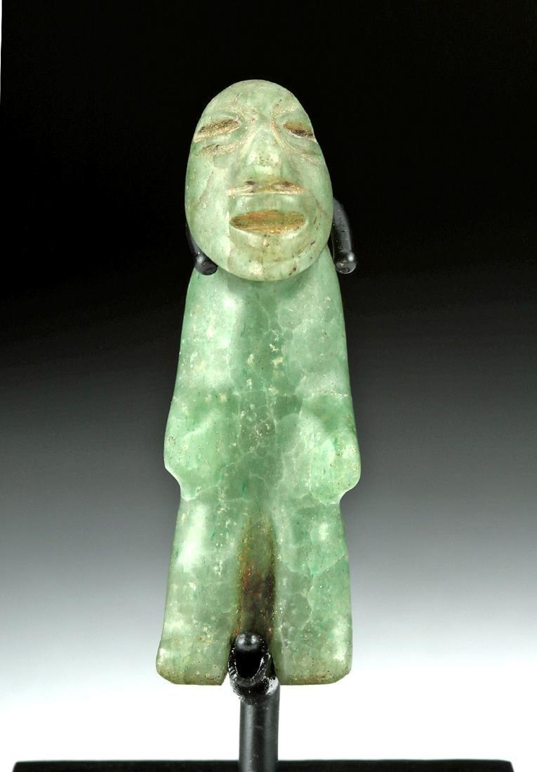 Miniature Olmec Greenstone Hunchback Amulet