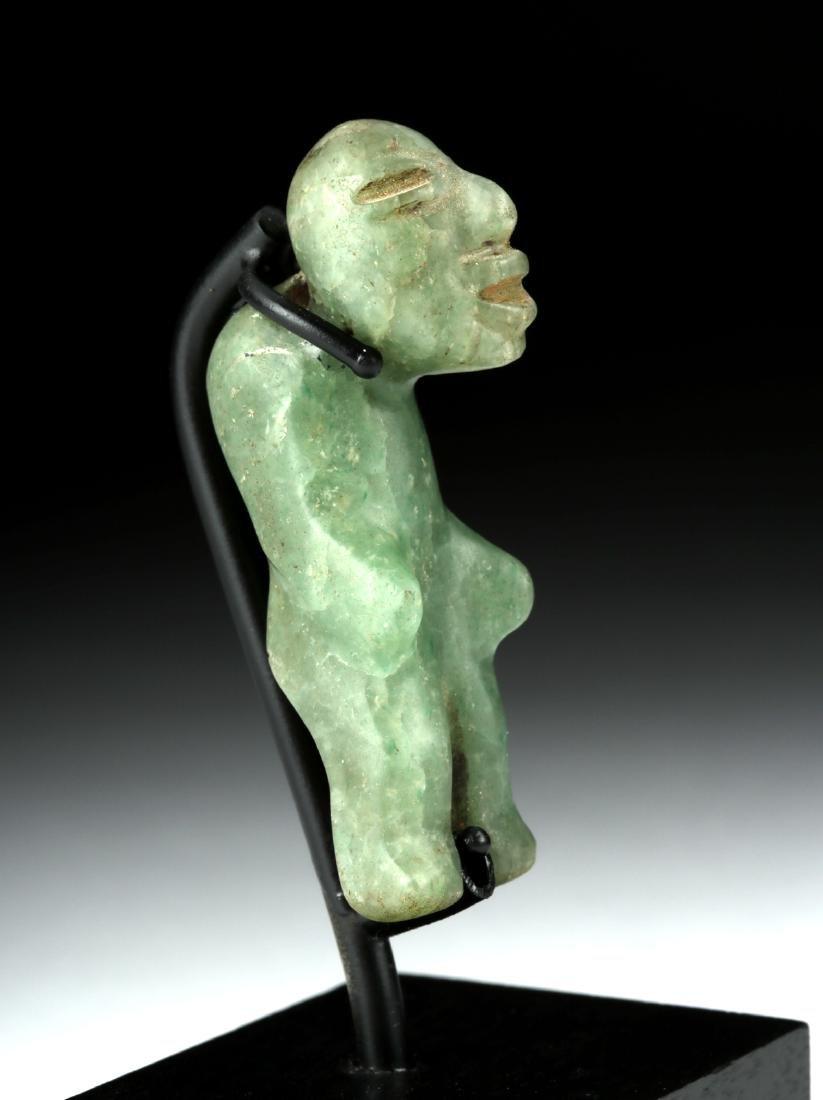 Miniature Olmec Greenstone Hunchback Amulet - 3