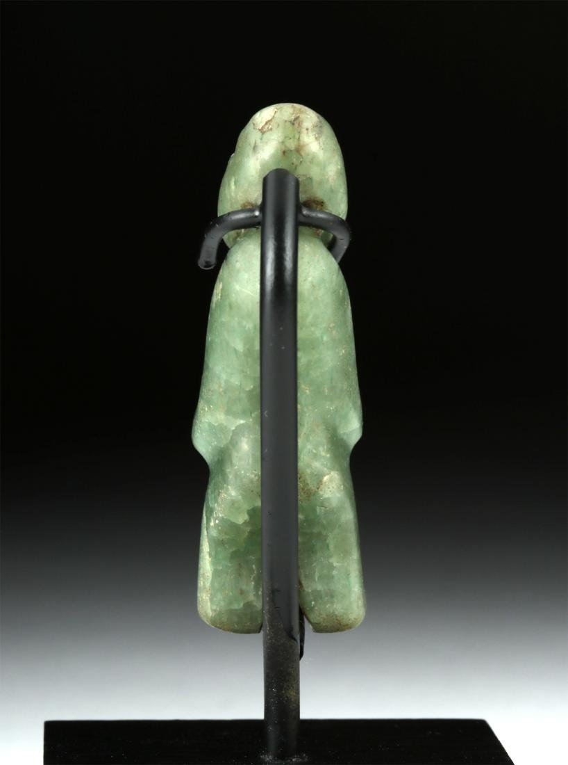 Miniature Olmec Greenstone Hunchback Amulet - 4