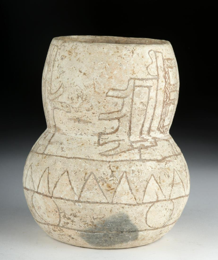 Rare Olmec Incised Calixtlahuaca Ware Vessel, TL Tested - 2