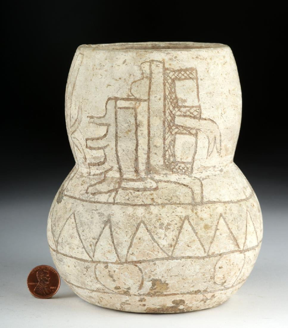 Rare Olmec Incised Calixtlahuaca Ware Vessel, TL Tested - 4