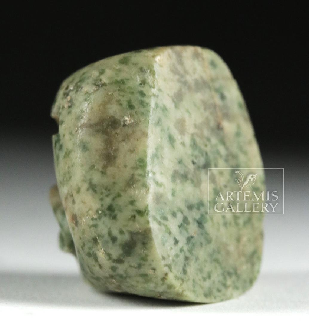 Olmec Serpentine Bead of a Were-Jaguar - 4