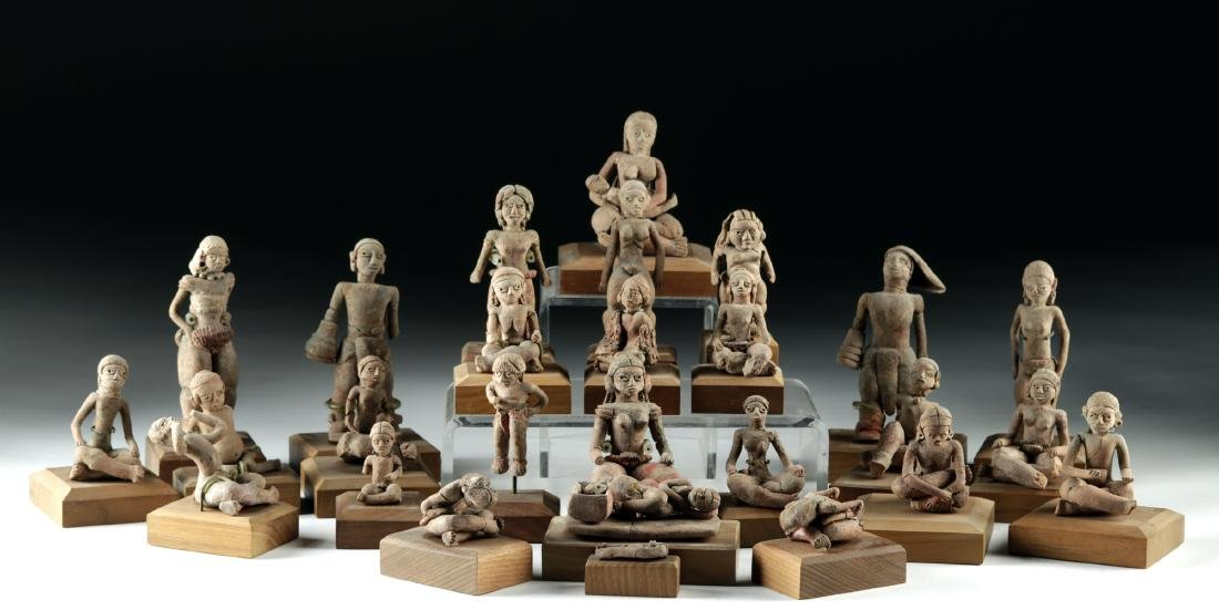 Rare Collection of 27 Xochipala Pottery Figures
