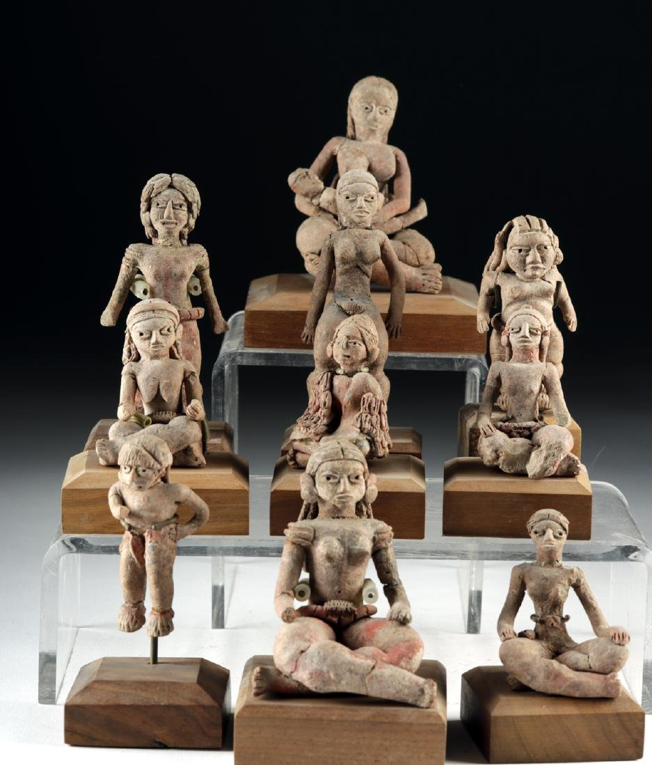Rare Collection of 27 Xochipala Pottery Figures - 2