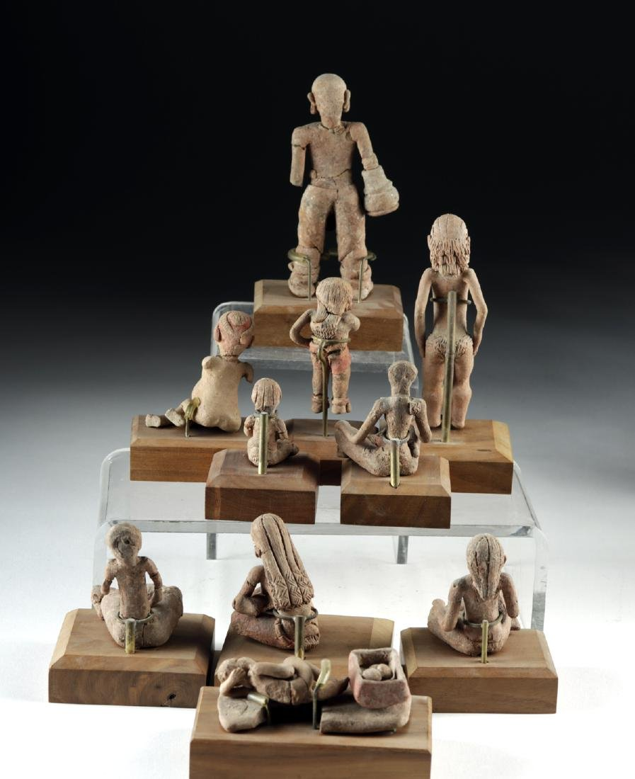Rare Collection of 27 Xochipala Pottery Figures - 5