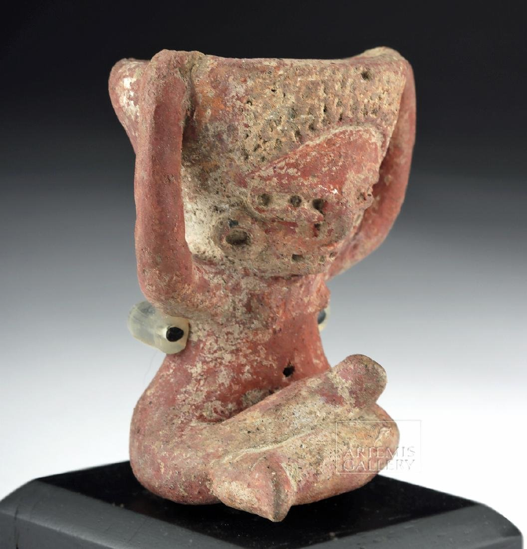 Tlatilco Pottery Seated Lady - Bowl on Head - 2