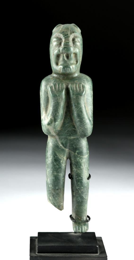 Important Olmec Greenstone Were-Jaguar