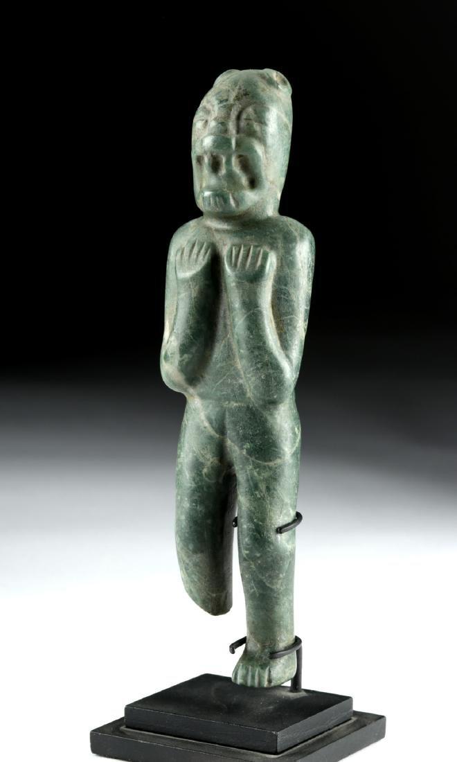 Important Olmec Greenstone Were-Jaguar - 3
