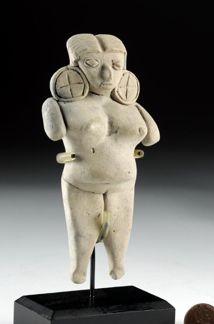 Michoacan Pottery Pregnant Pretty Lady Figure