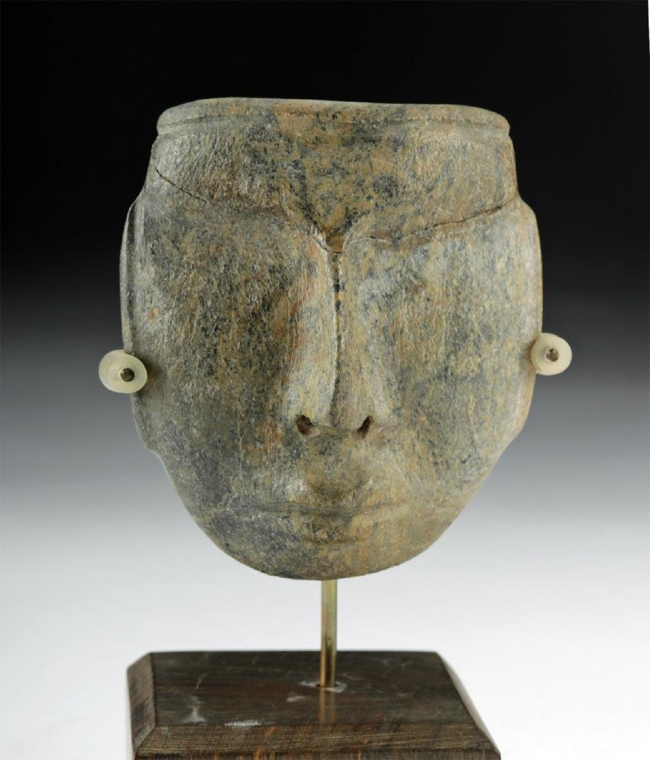 Guerrero Chontal Greenstone Maskette - 2