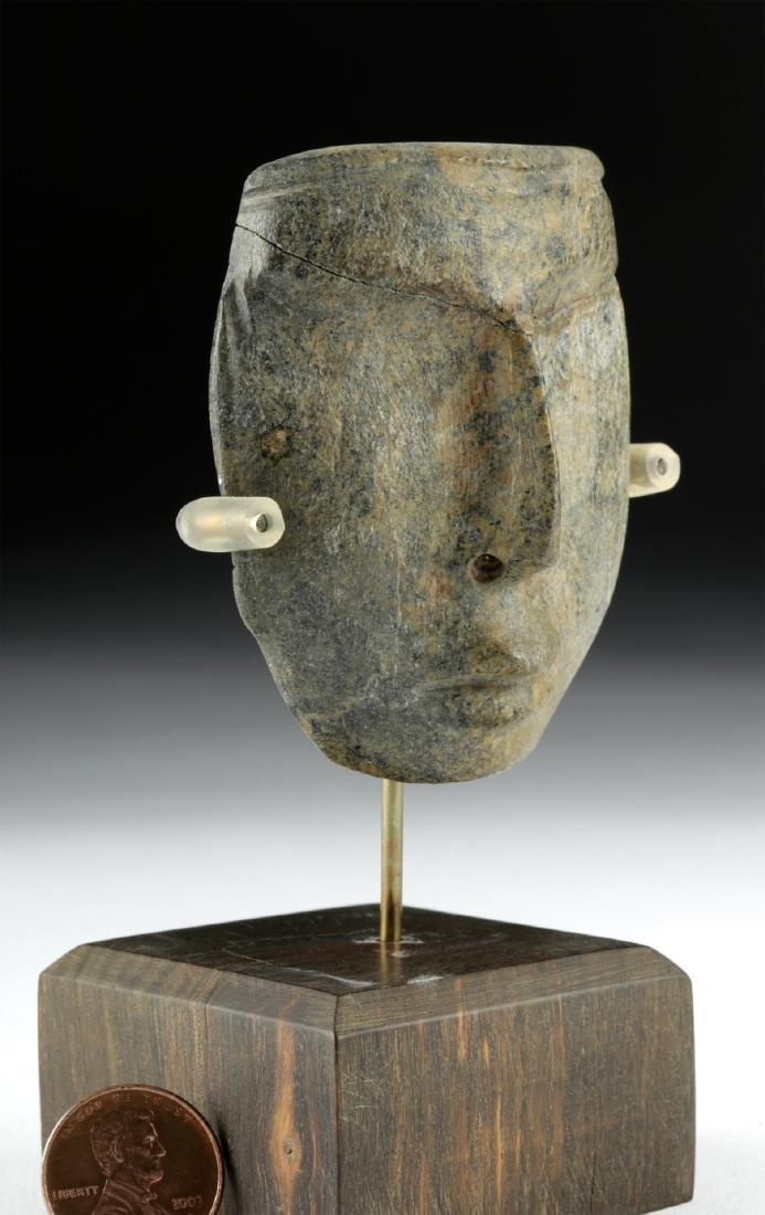 Guerrero Chontal Greenstone Maskette - 3