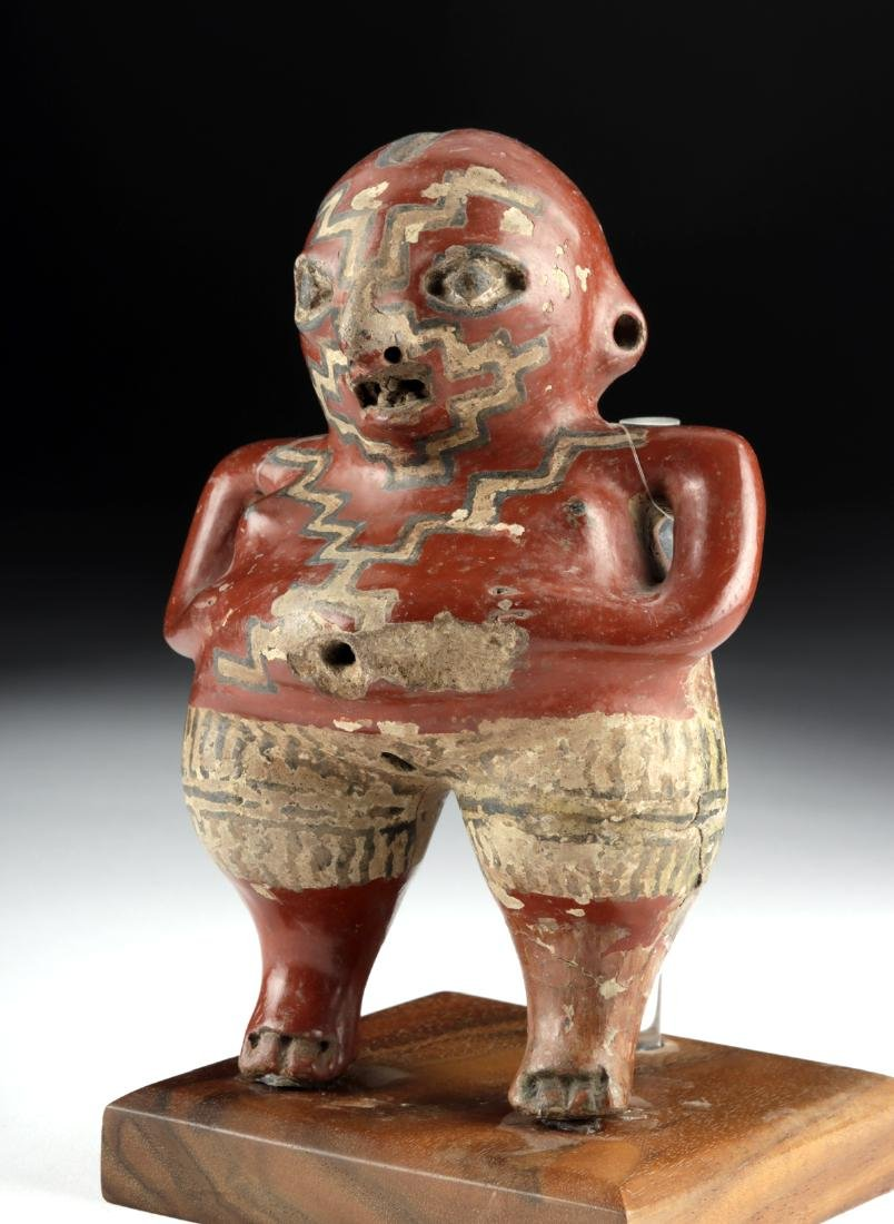 Chupicuaro Polychrome Standing Figure - Pregnant Woman - 2