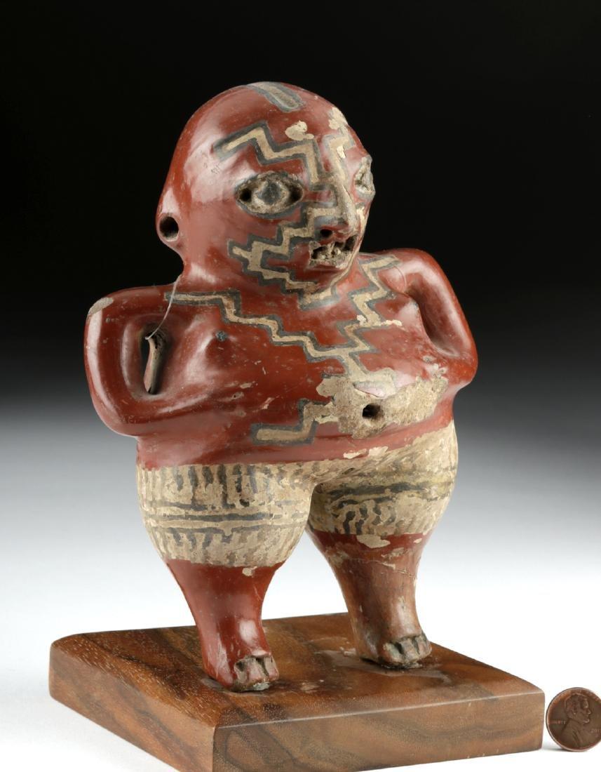 Chupicuaro Polychrome Standing Figure - Pregnant Woman - 3