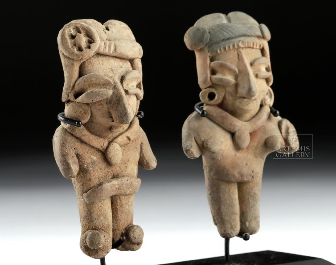 Lot of 2 Chupicuaro Pottery Pretty Lady Figurines