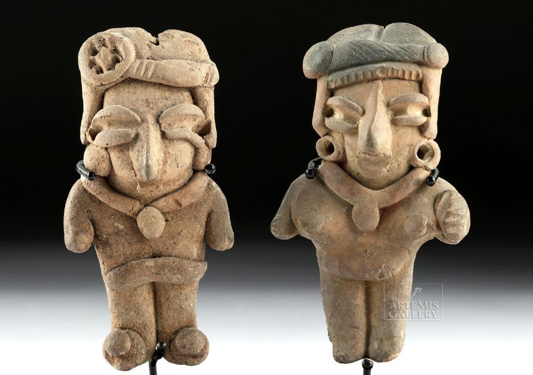 Lot of 2 Chupicuaro Pottery Pretty Lady Figurines - 2
