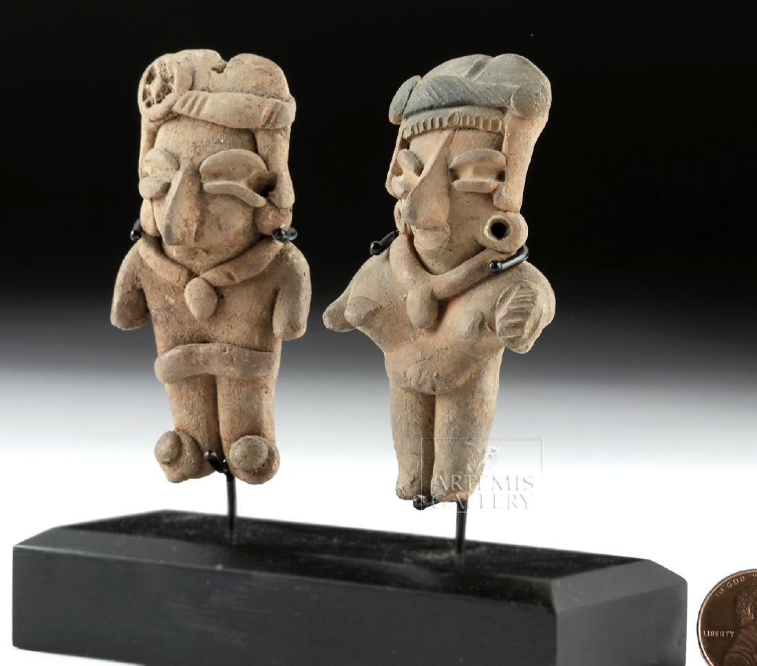 Lot of 2 Chupicuaro Pottery Pretty Lady Figurines - 3
