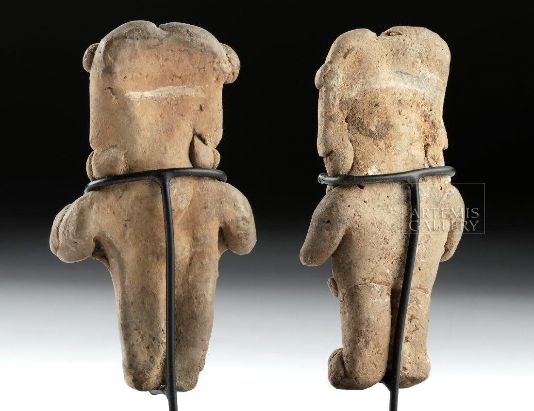 Lot of 2 Chupicuaro Pottery Pretty Lady Figurines - 4