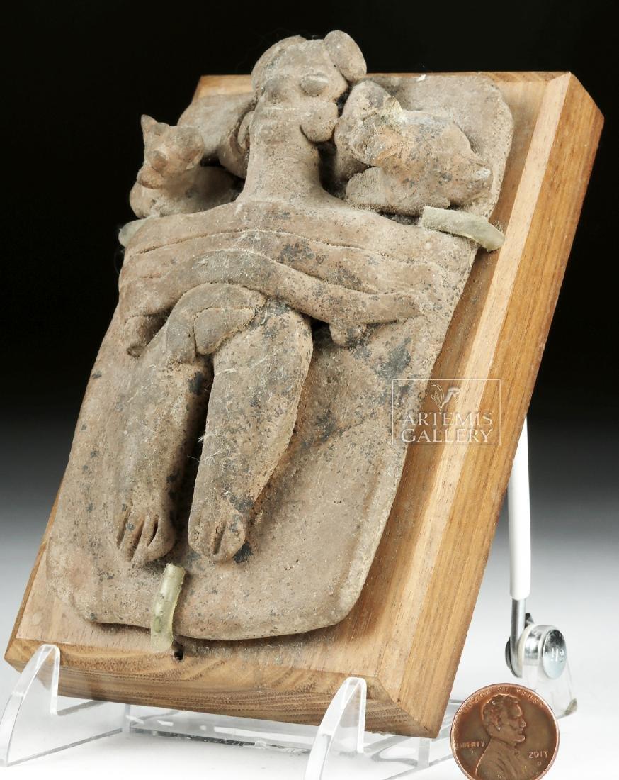 Colima Pottery Scene - Deceased Figure w/ Puppies - 2