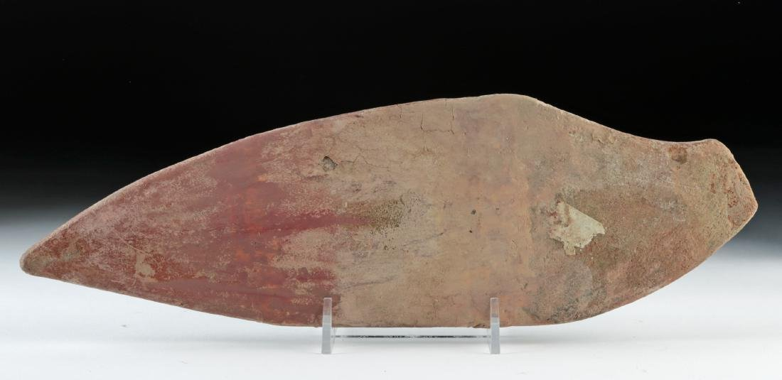 Attractive La Tolita Pottery & Stone Fish Grater - 4
