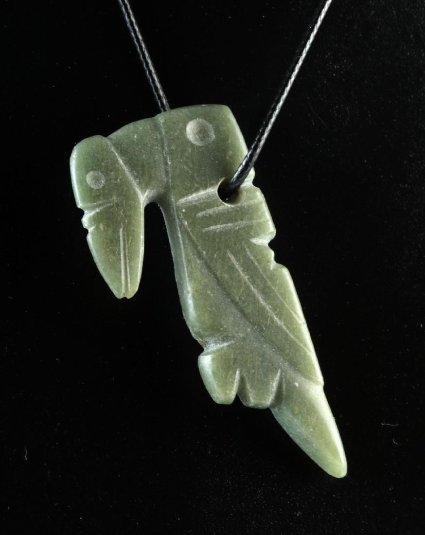 Costa Rican Jadeite Parrot Amulet