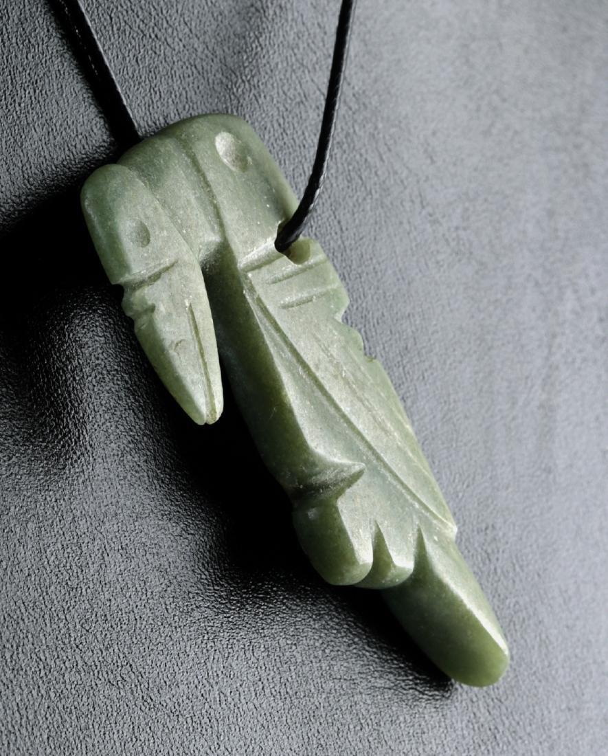 Costa Rican Jadeite Parrot Amulet - 2