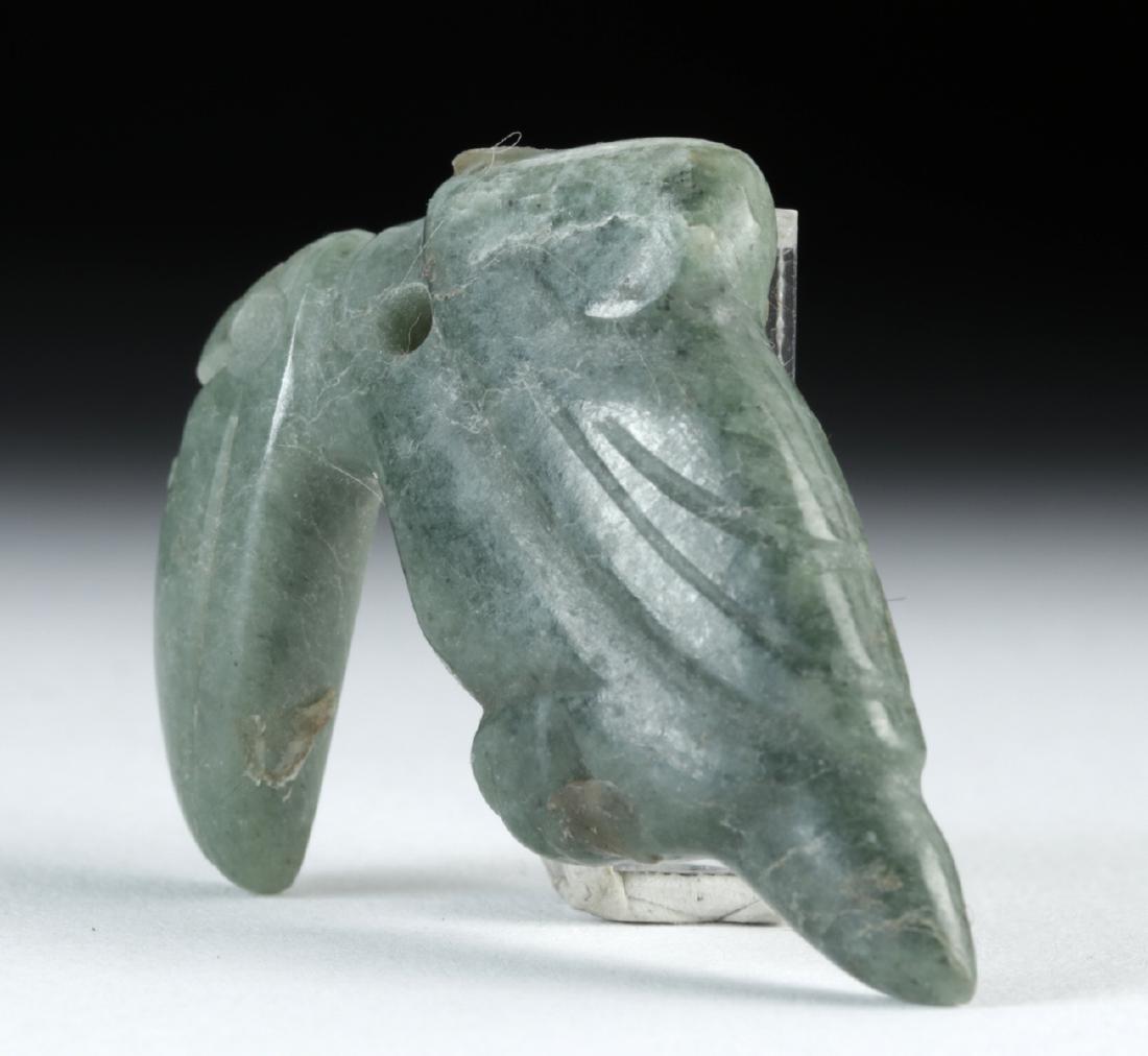 Costa Rican Jade Toucan Amulet - 3