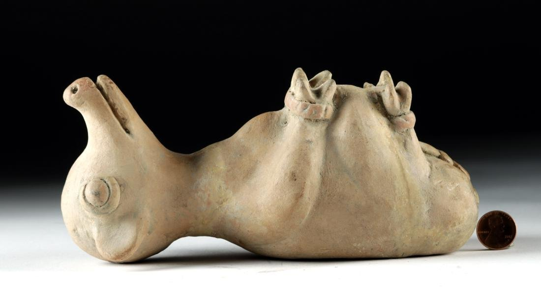 Recuay Pottery Whistle Vessel - Trussed Dog