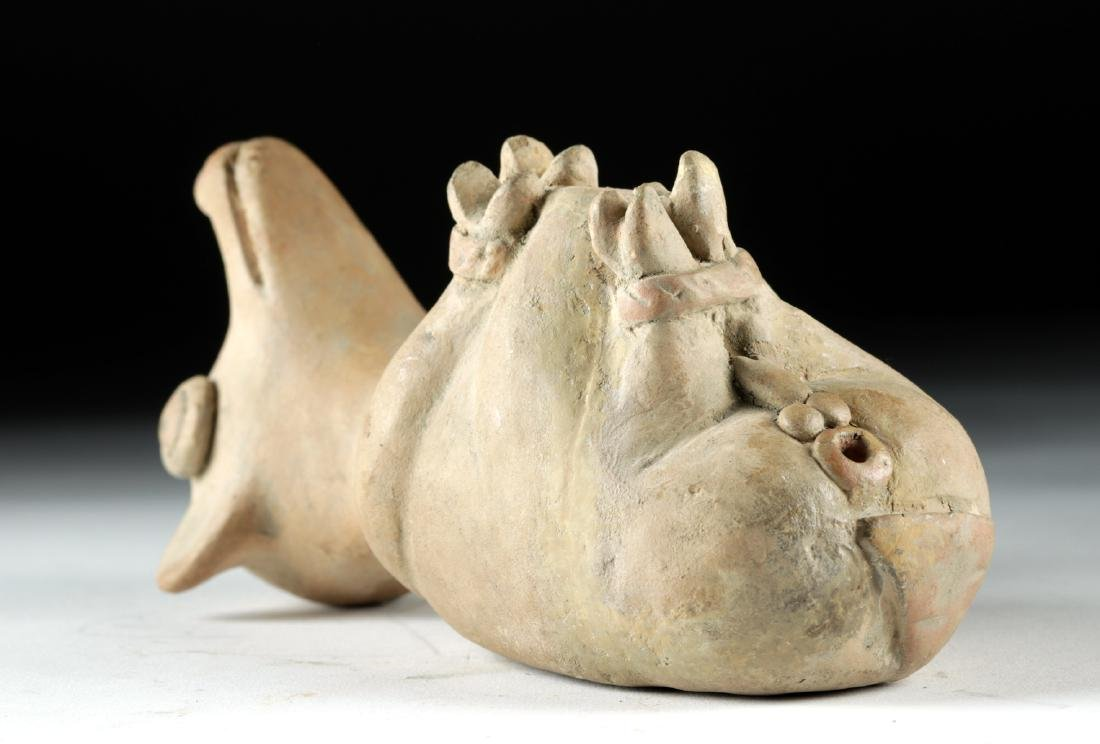 Recuay Pottery Whistle Vessel - Trussed Dog - 3
