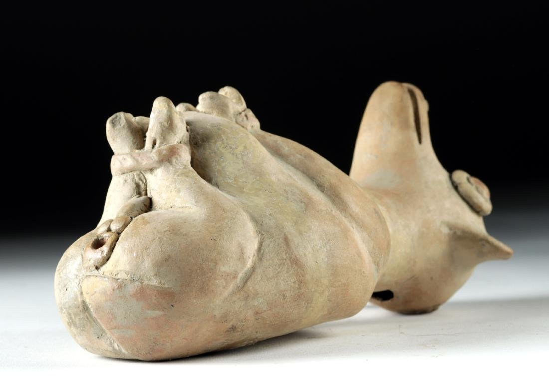 Recuay Pottery Whistle Vessel - Trussed Dog - 4