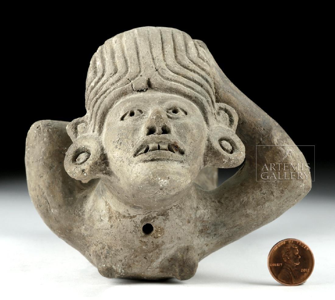 Rare Zapotec Pottery Prone Female - 3