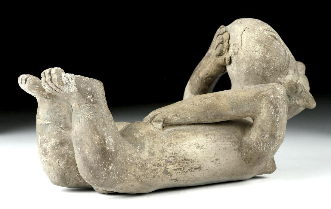 Rare Zapotec Pottery Prone Female - 5