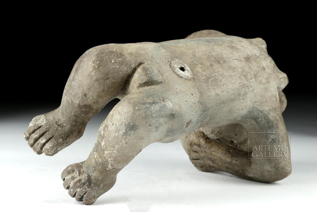 Rare Zapotec Pottery Prone Female - 7